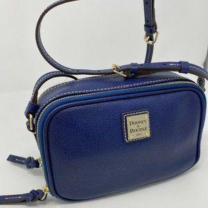 Dooney & Bourke Navy Saffiano Leather Crossbody